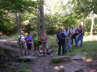 alcuni partecipanti all'escursione
